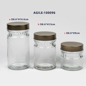 Glass Storage Glassware Bottle Jar with Metal Lid pictures & photos