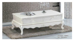 French Style White Wooden Living Room Coffee Table (A06) pictures & photos