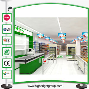 Popular Double Sided American Style Grocery Store Storage Gondola Shelf pictures & photos