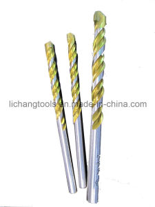 Power Tools Masonry Drill Bit with Golden Flute, White Edge, Double Flute pictures & photos