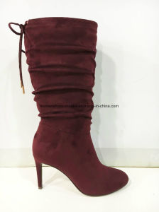 2017 New Style Wholesale Women Fashion High Heel Long Boots pictures & photos
