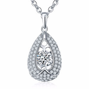 Full Diamond Drop Shape Pendants 925 Silver Jewelry Dancing Jewelry pictures & photos