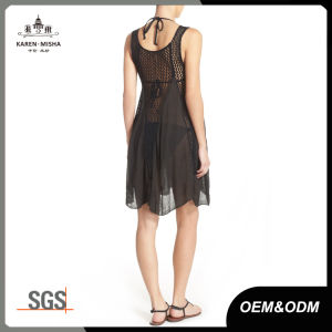 Women′s Fashion Sleeveless Cover up Summer Crochet Beach Dress pictures & photos