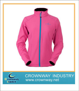 Women′s Softshell Jacket Made of 100% Polyester Fabric pictures & photos