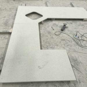 Ice White Prefab Quartz Countertops For Kitchen
