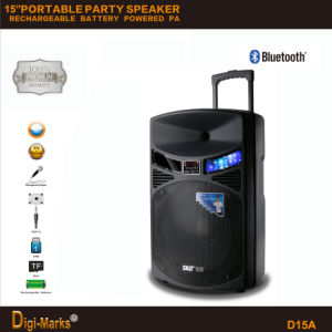 Portable Speaker with Battery Bluetooth Microphone DJ Home PRO Speaker pictures & photos