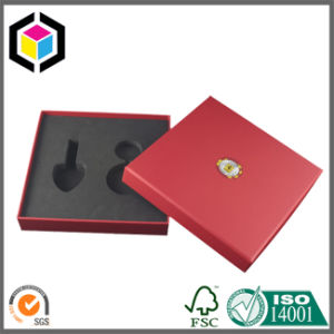 Yellow Color Print Cardboard Paper Gift Box with EVA Lining pictures & photos