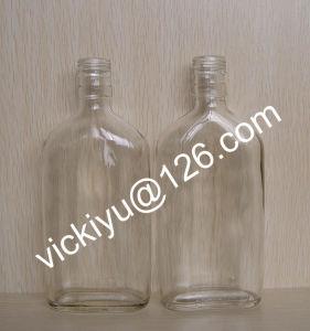 180ml ~300ml Flat Glass Wine Bottle, Grain Spirit Glass Bottles pictures & photos
