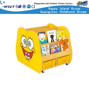 Cute Cartoon Cabinet Wooden Book Shelf Children Toy Furniture (HC-3706) pictures & photos