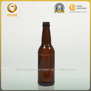 Crown Cap 330ml Amber Glass Beer Bottle (012) pictures & photos