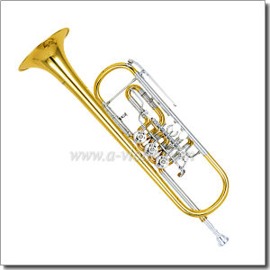 Yellow Brass Piston Lacquer Finish Bb Key Rotary Trumpet (TP8800) pictures & photos