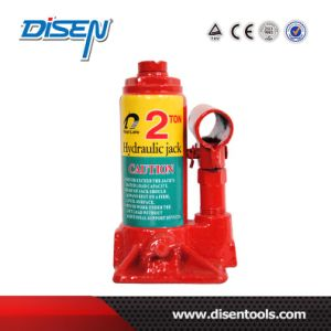 CE 2 Ton Safety Valve Hydraulic Bottle Jack