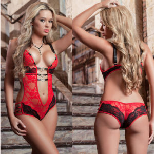 Excellent Quality Transparent Female Sex Lingerie with 3 Colors pictures & photos