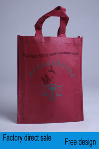 Bottoms Have Side Shopping Bag Non-Woven Fabric Printing Portable Clothing pictures & photos
