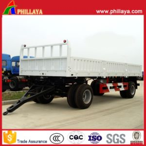25 Tons Small Cargo Full Side Wall Open Drawbar Trailer pictures & photos