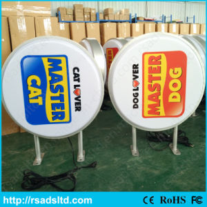 Round LED Illuminated Plastic Vacuum Light Box Board pictures & photos