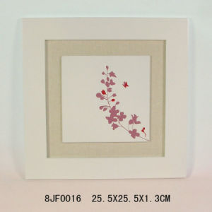 Flower MDF Wall Plaque with Linen Background pictures & photos