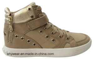 Ladies Women Skate Footwear Comfort Canvas Shoes (515-4001) pictures & photos