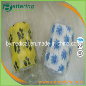 Dog Paw Pattern Non Woven Self Adhesive Veterinary Wrap Bandage pictures & photos