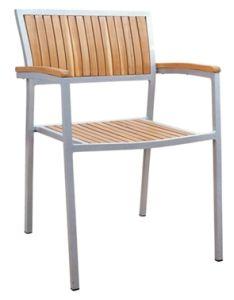 Aluminium Leisure Dining Garden Wood Outdoor Furniture (JJ-AW09)