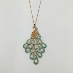 Fashion Peacock Pendant Necklace with Glass Crystal Jewelry pictures & photos