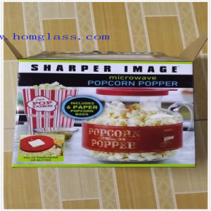 Borosilicate Glass Microwave Popcorn Popper/Corn Popper/Popcorn Machine/Popcorn Maker pictures & photos