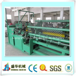 Full Automatic Chain Link Fence Machine Wire Diameter: 1.6-4.0mm pictures & photos