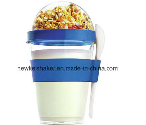 New Patented 600ml Pill Organizer Protein Shaker Bottle with Pill Container pictures & photos