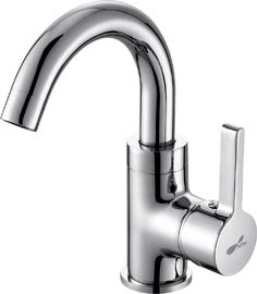 Ceramic Cartridge, Copper Alloy Silver Basin Mixer (T-1106)