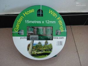 PVC Green Flexible Reinforced Fiber Braided Water Garden Hose pictures & photos