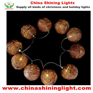 Popular Rattan Ball LED Decoration Light pictures & photos