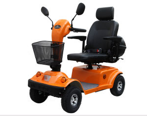 Four Wheels Electric Mobility Scooter with Rain Cover pictures & photos