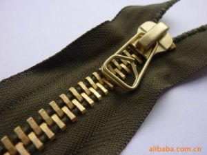 Top Quality Black Open End Gold Metal Zipper pictures & photos