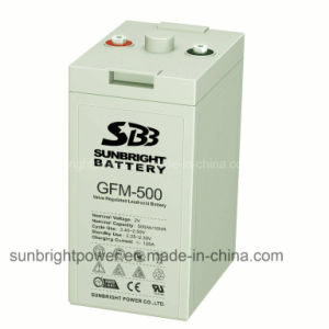 CE UL Approve 2V500ah Rechargeable Deep Cycle Solar Power Lead Acid Batteries pictures & photos