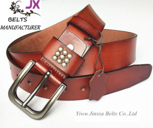 2016 High Quality Split Leather Belt pictures & photos