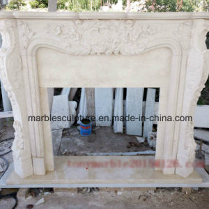 Beige Marble Fireplace Mantel Surround (SY-MF002) pictures & photos