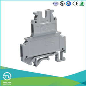 Utl Four Lead Cable Connector Double Layer Screw DIN Rail Connector pictures & photos