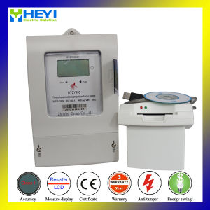 Three Phase Prepaid Static Meter with Insert Card pictures & photos