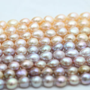 10-11mm Top Quality Multi Color Baroque Biwa Freshwater Pearl (E190038) pictures & photos