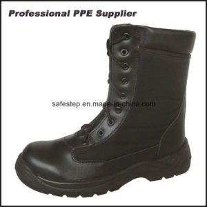 Best Selling High Cut Smooth Action Leather Safety Military Boot pictures & photos