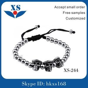 Stainless Steel Skull Bracelets Custom Bead Bracelets