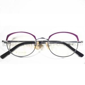 Free Sample Fashionable Full Rim Titanium Spectacle Frames for Lady pictures & photos