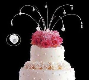 Hanging Sparkle Jewelry Wedding Cake Topper pictures & photos