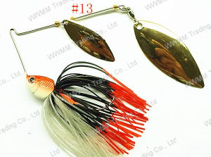 High Grade Spinner Bait ,Fishing Lure--Willow Leaf Brass Blade Spinner Bait (HWZ013) pictures & photos