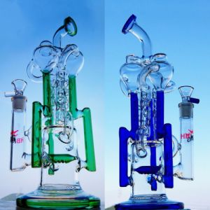 Hbking 2017 New Model Glass Water Pipe 13inch K126 Glass Recycler Pipe Water Pipe Glass Smoking Pipe with American Colored pictures & photos