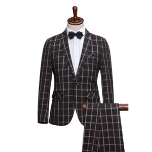Tailored Made Check Fitted Designer Suits for Men pictures & photos