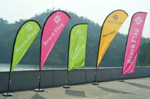 Outdoor Advertising Feather Shape Beach Flag pictures & photos