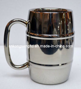 Stainless steel beer cup 400ml