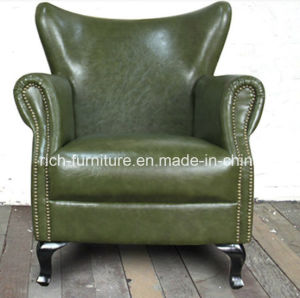 Classic Wing Back Vintage Leather Sofa Chair for Living Room (RF-5006) pictures & photos