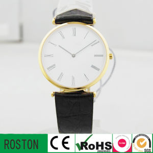 Stainless Steel Leather Band Watch